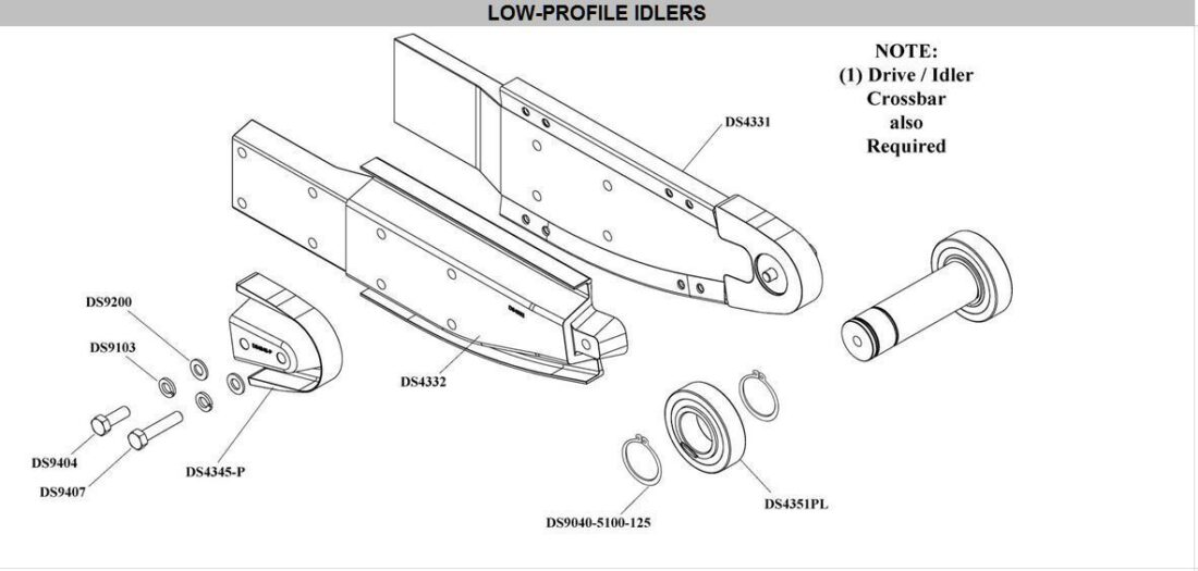 low profile idler chain guide