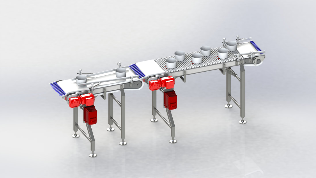 Rendered model Conveyor
