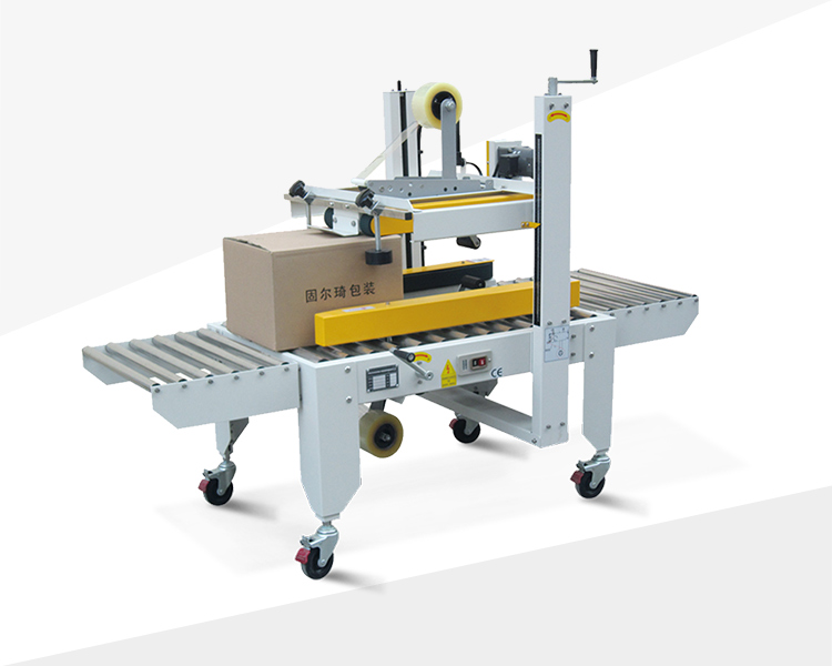 Four direction belt driven carton sealer