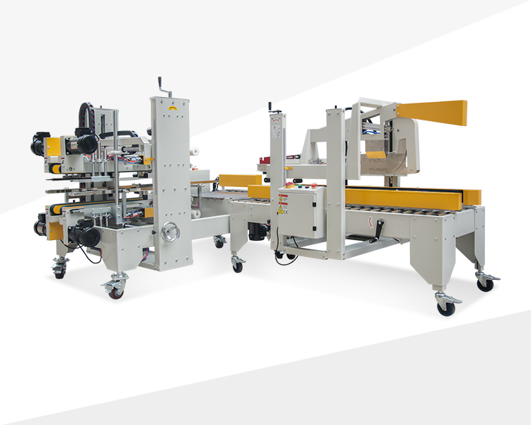 Automatic folding and four sides and corners sealing