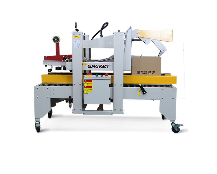 Double column flaps folding carton sealer