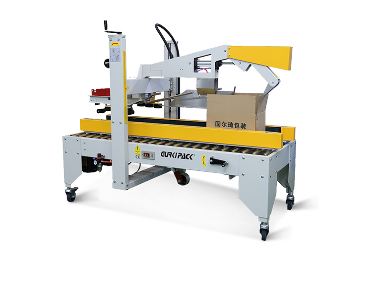 Semi-auto flaps folding carton sealer