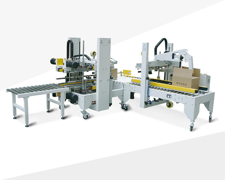 Automatic flaps folding carton sealer with corner and side carton sealer