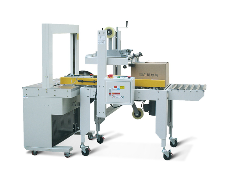 Automatic sealing and strapping machine