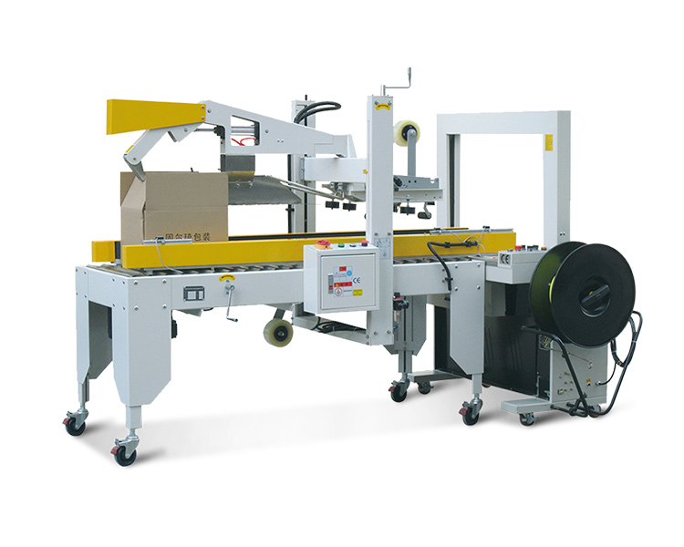 Automatic folding and strapping machine