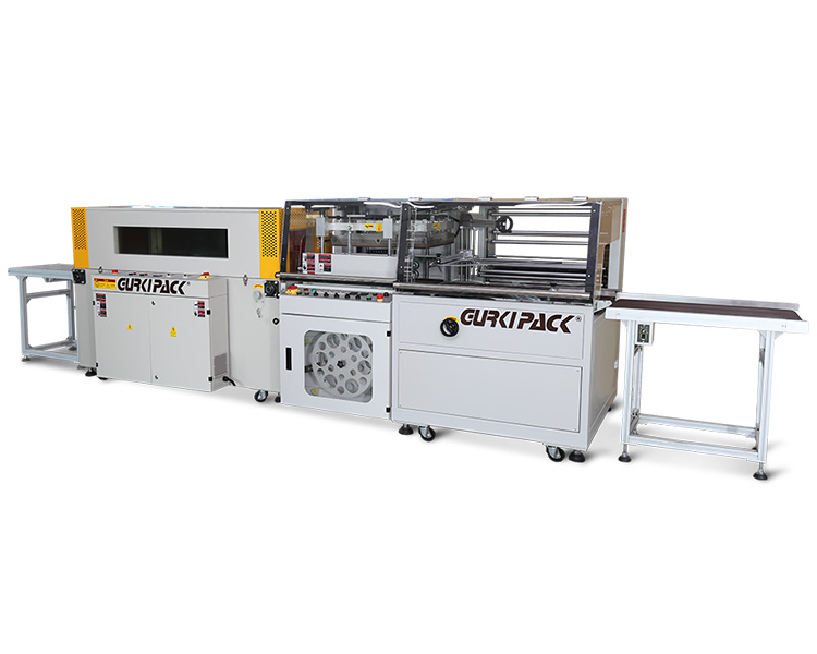 Fully automatic L type vertical upper and lower sealing and shrinking machine