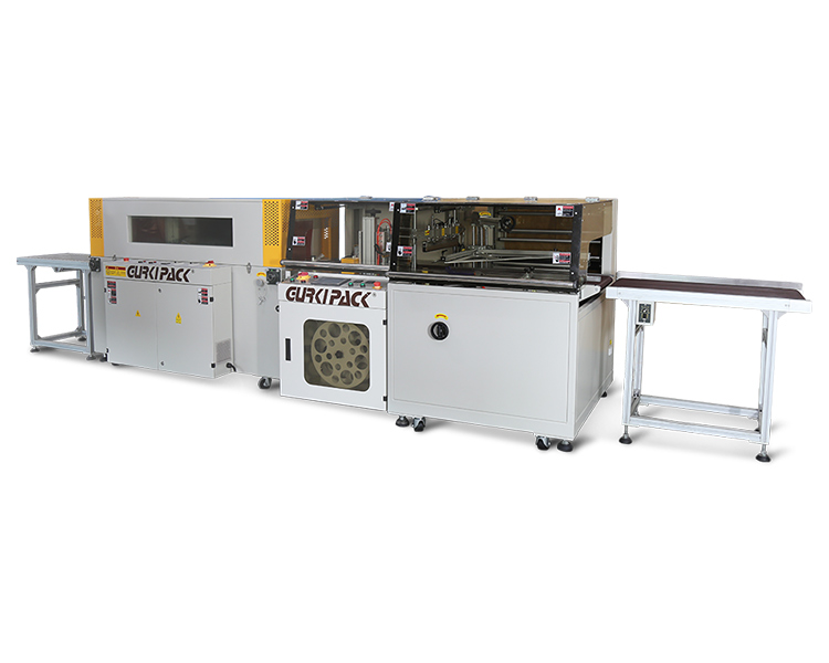 Automatic high speed edge sealing and shrinking machine