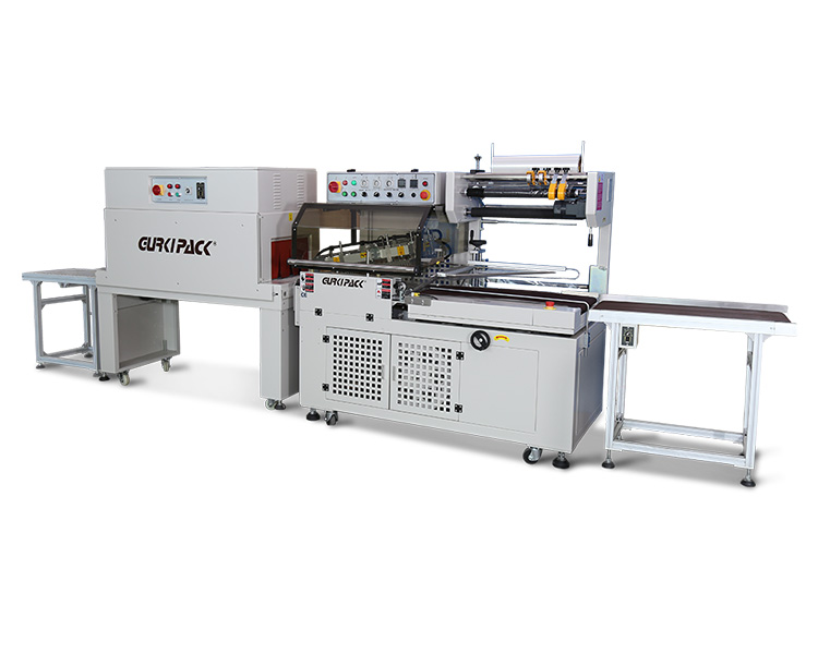 Automatic L-type sealing and shrinking packaging machine