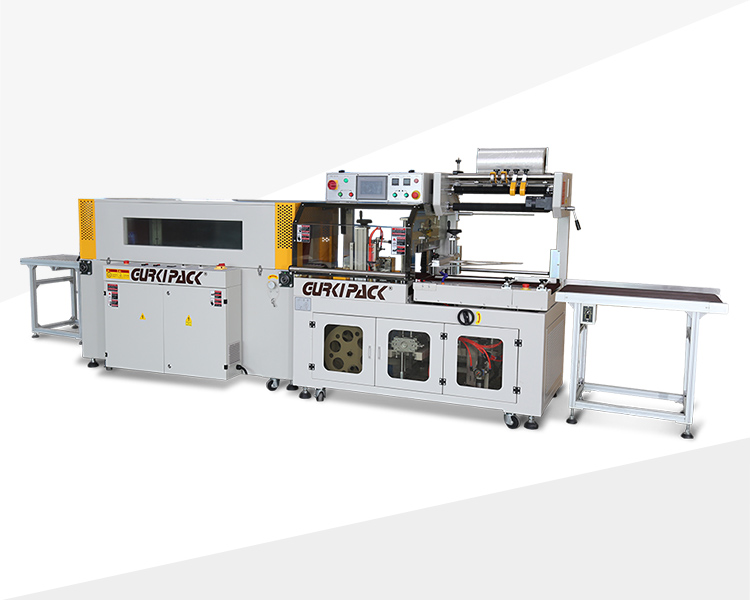Automatic edge sealing and shrinking packaging machine